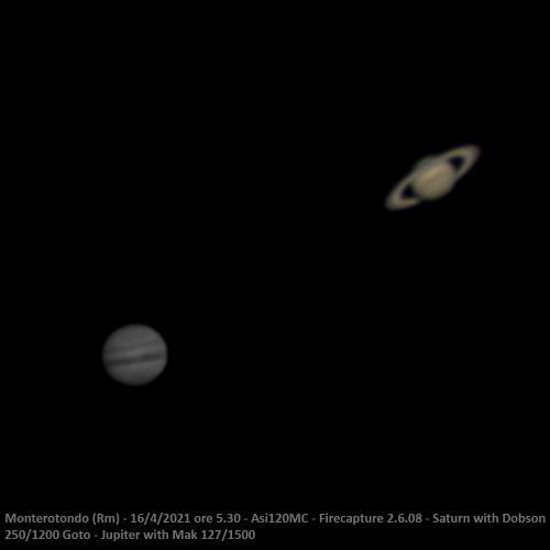 Saturno e Giove...